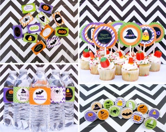 Halloween Party Printables - Happy Party Decor -  Halloween Party Kit - Kids Halloween Party Printables - Instant Download