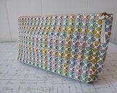 40's Plasticflex Purse Pastel Clutch Handbag Vintage Plastic Tiled Bag