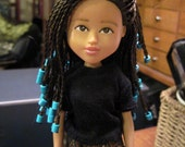 Moxie Girlz Transformed, MULTI-RACIAL DOLL, single braids, bratz transformation, doll changed, makeover dolls
