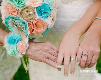 Wedding wrist corsage. Trio flower tie corsage, choose your colors.