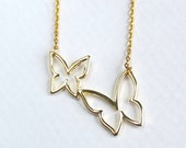 Butterfly necklace, gold butterfly pendant, everyday simple necklace, minimal necklace, sale jewelry
