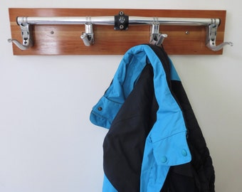 Handcrafted Coat Rack , Bicycle Accessories , Upcycled Home Decor , Recycled Bike