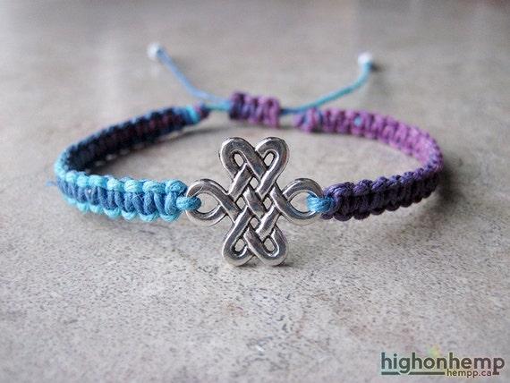 celtic bracelet celtic knot bracelet eternity by highonhemp