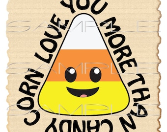 Love you more than candy corn  -  2 printable PDFs and SVG cut file