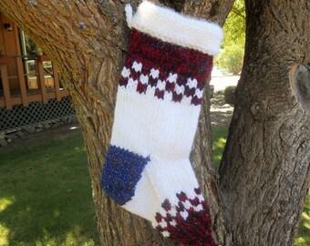 Angora Bunny knit Christmas Stockings