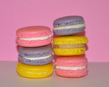 12 Macarons Cookies  French Macarons Almond Assorted Gift Favor Variety Choice of flavors