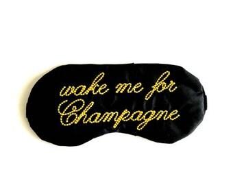 WAKE ME for Champagne sleeping mask