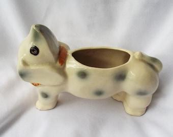 Dog Planter Japanese Upside Down Head Animal Ceramic Daschund Puppy