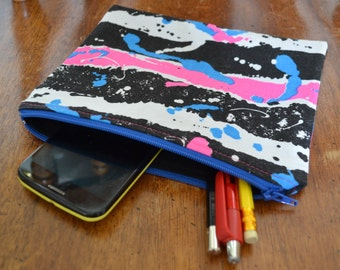 SALE Zipper Pouch Makeup Bag Cosmetic Bag Toiletry Bag Coin Purse All Purpose Pouch Retro Zipper Pouch Clutch Pen Case Gadget Cellphone Bag