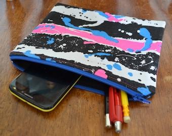 Zipper Pouch Makeup Bag Cosmetic Bag Toiletry Bag Coin Purse All Purpose Pouch Retro Zipper Pouch Clutch Pen Case Gadget Cellphone Bag