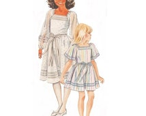 McCalls 2448 Vintage 1980s Sewing Pattern The Ribbon Dress Girls Dress Pattern Pullover Dress Pattern
