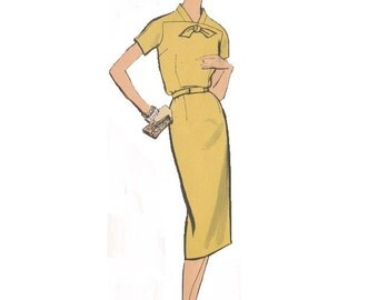 Vogue 9447 Vintage 1960s Sewing Pattern Dress Pattern One Piece Dress Pattern Sheath Dress Pattern