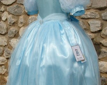 CINDERELLA Dress, Princess Dress, Girls Birthday Party Dress, Pageant Costume, Tulle, Beads, Rhinestones
