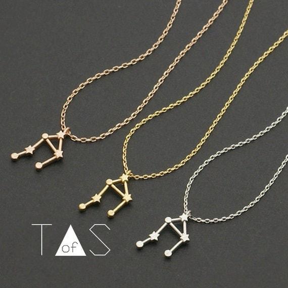 libra constellation necklace zodiac necklace by