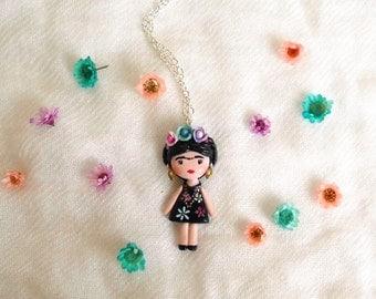 Frida Kahlo necklace. One of a kind.