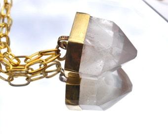 Child of Crystals // Time Keeper Necklace // Phantom Quartz Crystal