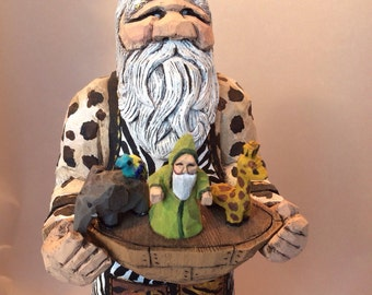 Unique Carved Santa Related Items Etsy