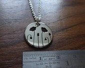 Miniature Silver Poppy Pendant Necklace Without Leaves