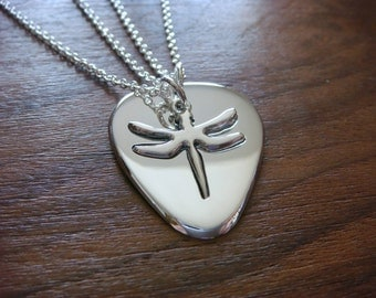 Plectrum and Dragonfly Pendant, Necklace