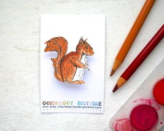 Squirrel Brooch Cute Brooch Squirrel Pin