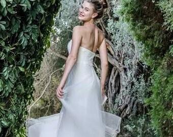 Ivory Lace Wedding Dress Tulle Wedding Dress Lace Bohemian Wedding Dress Paulastudio Wedding Dress Strapless We Simple Wedding Dress