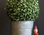 Vintage Zinc Galvanized Pail // Small Vintage Galvanized Bucket // Galvanized Vase