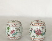 Vintage Chinese Ginger/Spice Jar Chinioserie Lid Asian Art