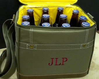 Set of 6 Personalized Insulated Cooler Bags Groomsmen Gifts