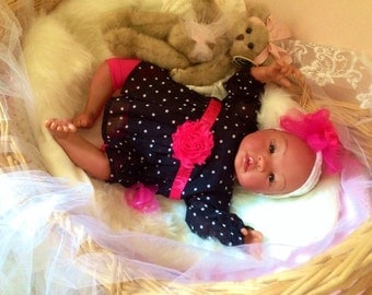From the Biracial Shyann Kit  Reborn Baby Doll 19 inch Baby Girl Nichole Complete Baby Doll