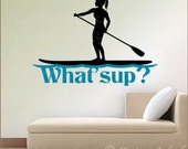 Female Stand Up Paddleboard Decal, SUP Sticker SP-125