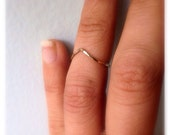 Hammered 14k Gold Fill Peaked Chevron Ring - Made to any size for any finger midi or knuckle- custom made to order - Ready to Ship