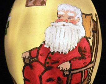 Santa, Hand Painted Ornament
