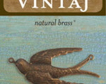 Vintaj 41x18mm Soaring Sparrow (1 pc/pkg)