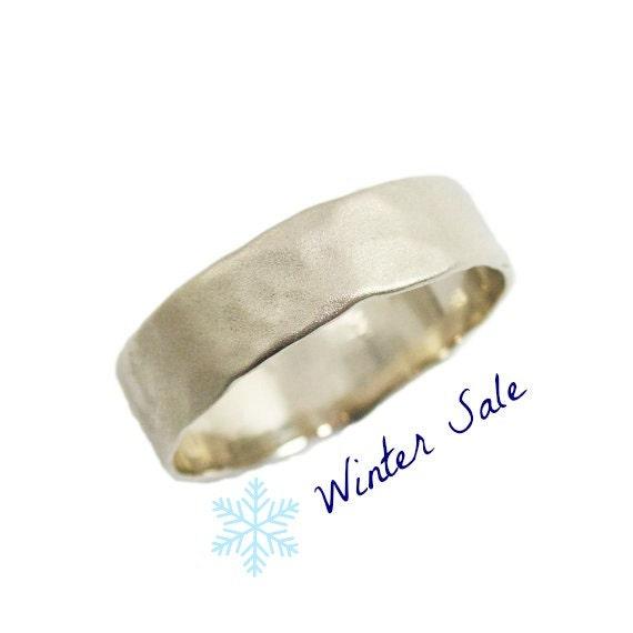 Matte Gold Wedding Ring Men Wedding Band By KaiJewelry585