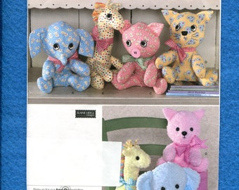 Simplicity 2613 Baby Animals Stuffed Animals Pattern Size 10..12 inches UNCUT