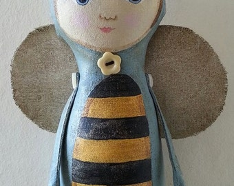 Queen Bee art doll, bee, fairytale doll, art doll.