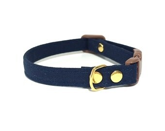 Chic Navy Cat Collar