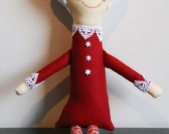 Mrs. Claus, Santa's Wife, Plush Doll. Cute Christmas Decoration Stuffed Animal, Softie, Doll.