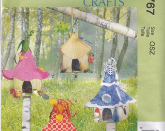 Fairy House Craft Pattern McCalls 6767 Uncut