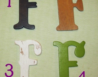 Large Magnetic Wooden Letter - F - Personalize It