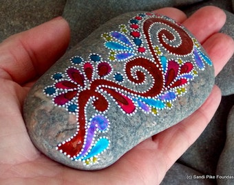 everlasting / painted rocks/ painted stones / unique gifts / art on stone / rocks  / home decor / sea stones /