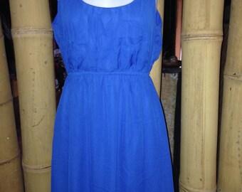 Cobalt blue high low dress