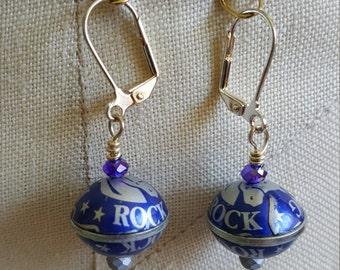 Rolling Rock Beer Bottlecap Earrings
