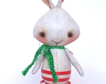 Folk Art Bunny Rabbit Doll