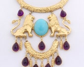 Donald Stannard Twin Lions Necklace