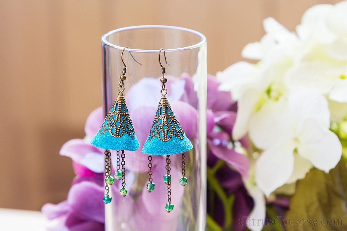 https://www.etsy.com/listing/117531193/blue-bell-suede-earrings