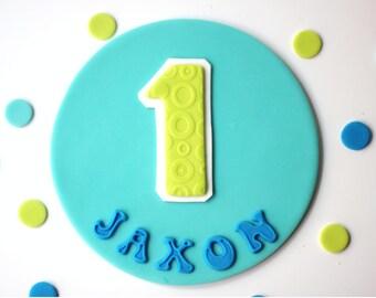 Fondant Age Cake Topper Set - Fondant Number Topper Set - Fondant Number - Fondant Age Topper  - Fondant Cake Topper