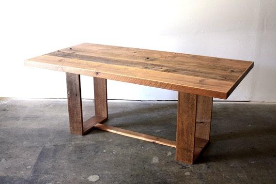 Reclaimed Wood Dining Table Modern Industrial Desk Loft