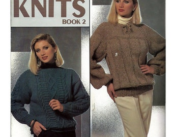 Bulky Knits Book 2 Pattern Booklet Leisure Arts 574