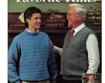 His Favorite Knits Pattern Booklet Leisure Arts 2002
